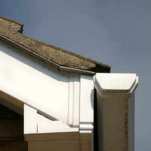 Soffits and fascias on a roofline